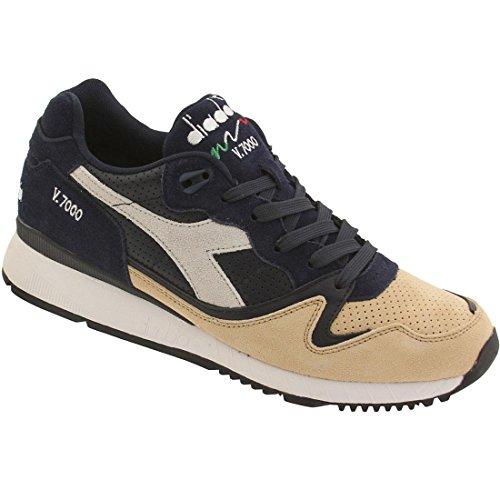Diadora V7000 Premium Mens Blue Suede/Leather Athletic Running Shoes 9