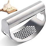 Trituradora de ajos de acero inoxidable para cocina o ajo, picadora de jengibre con abrebotellas, fácil de limpiar