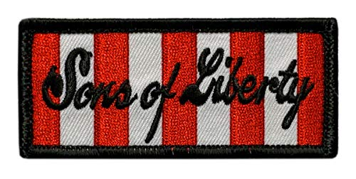 """Sons of Liberty Tactical Patch [3.5 X 1.5 """"Velcro Brand"""" Fastener - SL7]"""