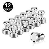 Komake Neodym Magnete, [12 Stück] Mini Magnete 12 x 16mm Extrem Stark Magnete für Magnettafel,Pinnwand,Whiteboard,Kühlschrank - Klein Kegelmagnete mit Aufbewahrungs Box