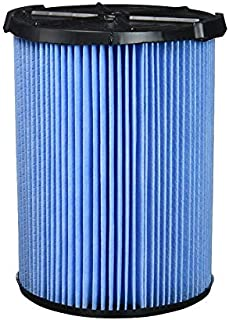 Surrgound Wet & Dry Filter(3-Layer Pleated Paper) Fit for Ridgid VF5000, 5-20 Gallon Vacuums, 1pk, Type 1(1pc), Blue