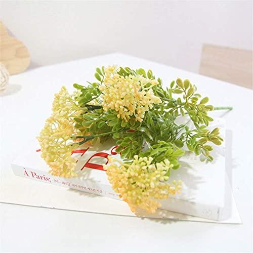 Mimitool Artificial Flower,Fake Simulation Pentagram Silk Bridal Realistic Bouquet Christmas Party Home Hotel Office Garden Decorative