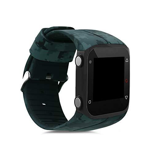 kwmobile Pulsera Compatible con Polar M400 / M430 - Brazalete de Silicona Motivo Camuflaje en Verde Claro/Verde/Verde Oscuro