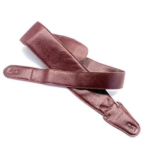 Tracolla Per Chitarra Cinturino Per Chitarra Acustica Elettrica Basso, Morbido Vera Pelle Allargare 9CM(3.5in) Tracolla Per Chitarra Cinturino Regolabili Per Bambini Adulti-C-108-120CM(42.5-47in)