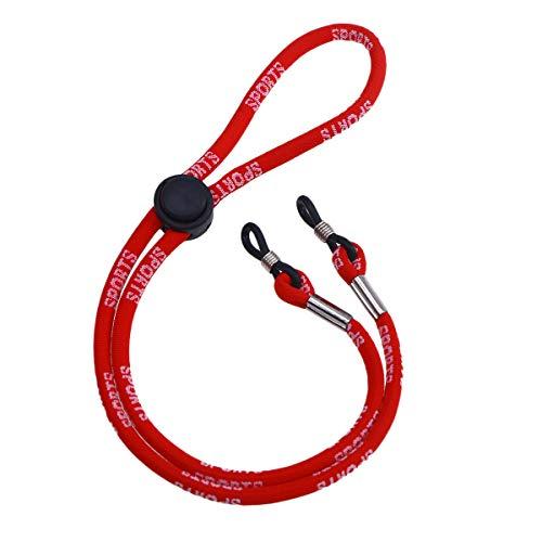Fenical Sport Brillenhalter Kette Brille Halskordel Schnurhaltegurt (rot)