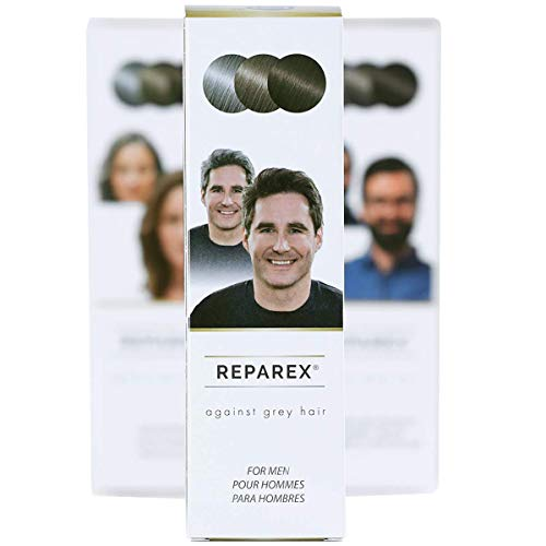 REPAREX For Men - No More Gray In The Mirror. Odorless clear liquid - true gray hair solution - not a dye