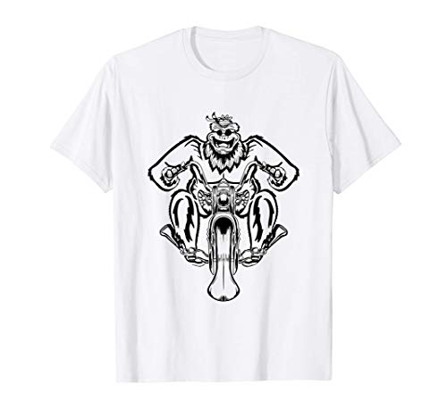 Pie Grande en la moto - Dibujado a mano Camiseta