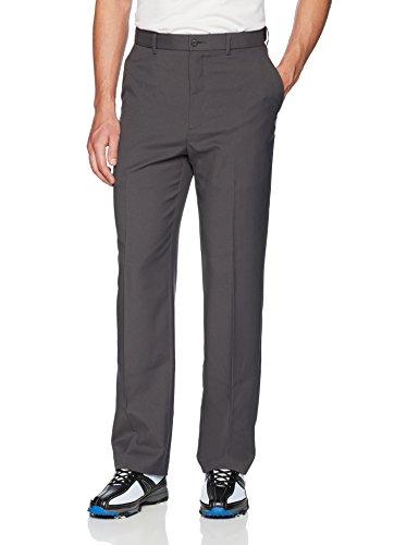PGA TOUR Men's Flat Front Golf Pant with Expandable Waistband, Asphalt, 38W x 32L
