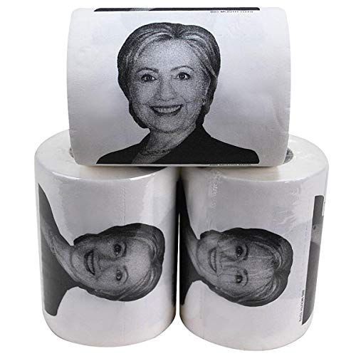 Hillary Clinton 3-Ply Toilet Paper Set Novelty Political Gag Gift
