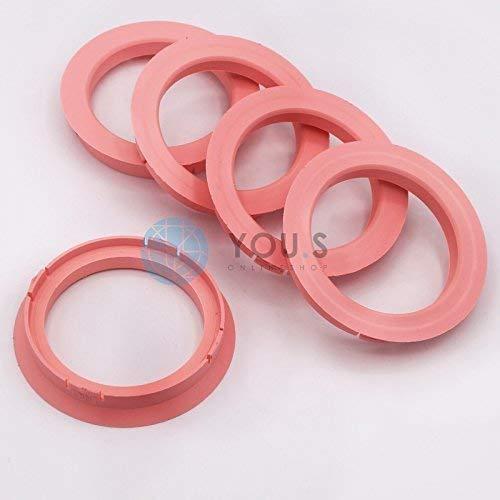 5 x ZENTRIERRINGE DISTANZRING für ALUFELGEN FZ20 74,1-60,1 mm CMS, DBV, Proline Wheels, Schmidt Revolution