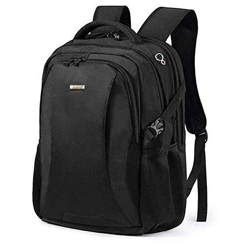 FreeBiz Rucksack für Damen Herren Studenten für Laptop Computer Notebook mit bis zu 18,4 Zoll, inklusive USB-Ladeanschluss Regenschutz Geschenke für Männer Schwarz