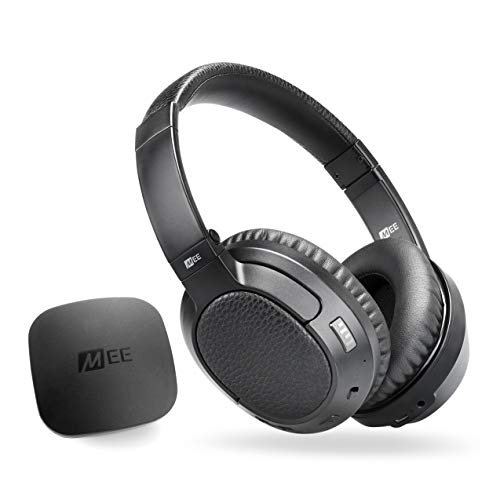MEE audio Connect T1CMA Bluetooth Wireless TV Headphone System with CinemaEAR Audio Enhancement - Includes Bluetooth Wireless Audio Transmitter and Matrix Cinema Wireless HD Headphones w/aptX-LL