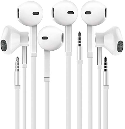 Headphones with Microphone, Certified XPOWER in-Ear 3.5mm Noise...