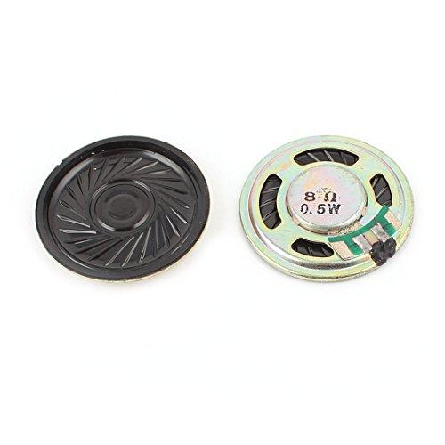 2Pcs 0.5W 8Ohm 36mm Round Inside Magnet Electronic Speaker Loudspeaker