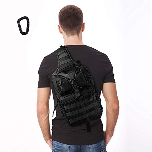 FUNANASUN Tactical Sling Backpack Bag...