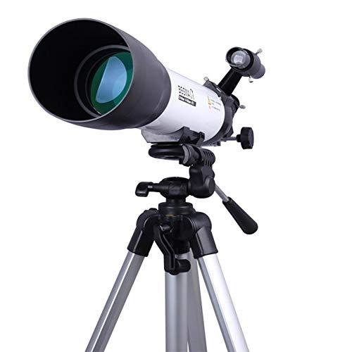 YINGZU Telescopio portátil Refractor astronómico 500 x 80 mm con trípode de Altura Ajustable Niños Principiantes Alcance del Viaje Espejo Lunar Adecuado para observar el Planeta