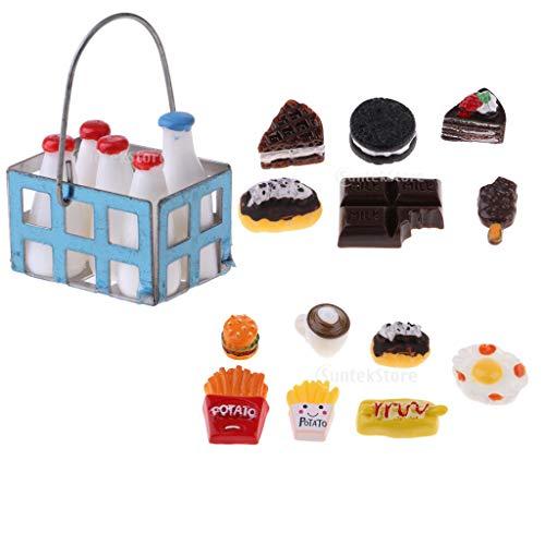 Baoblaze 1/12 Casa de Muñecas Miniaturas Cocina Comida Habitación Artículos Accesorios Decoración