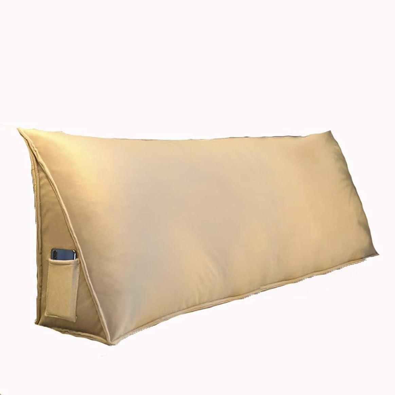おばあさんインサート読書をするベッド枕 クリスタルベルベットの三角形のベッドヘッドクッション枕ダブルバッククッション寝室ヘッドボードベルトウエスト洗える大きな背もたれジッパーデザイン独立したライナー 写真ベッド枕首まくら (色 : D, サイズ さいず : 90センチメートル)