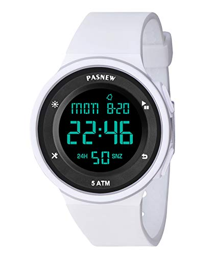 Pasnew-445G Reloj niña Mujer Reloj Deportivo Digital Reloj Alarma Luz Impermeable Cronómetro multifunción de Moda.