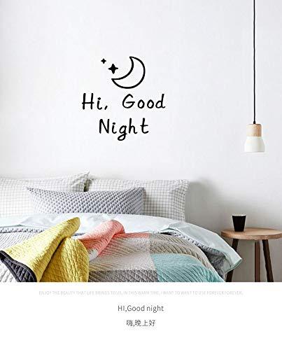 DALAO muursticker Ciao goede nacht/muismat letter slaapkamer Studio Dormitorio muur decoratie
