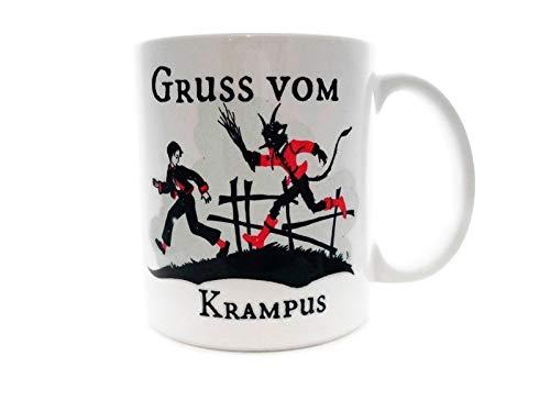 Gruss Vom Krampus Christmas Devil - Taza de café (325 ml), diseño...