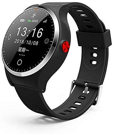 NO BRAND Reloj Inteligente H18 Comunicación bidireccional SOS GPS Posicionamiento Reloj Impermeable Reloj Inteligente Pulsera para Anciano Mujer Negro