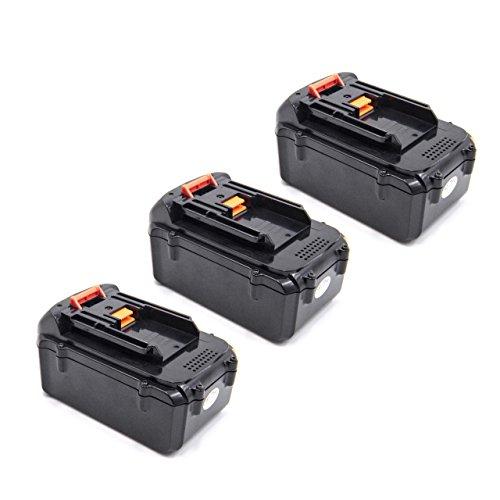 vhbw 3x Baterías Li-Ion 4000mAh (36V) para herramienta eléctrica powertools tools Dolmar AM-3643 Cortacésped