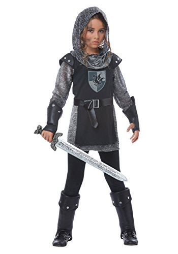 California Costumes Girls Noble Knight Child Costume Black/Silver, Large