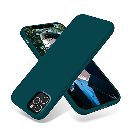 OTOFLY iPhone 11 Pro Max Case,Ultra Slim Fit iPhone Case Liquid Silicone Gel Cover with Full Body Protection Anti-Scratch Shockproof Case Compatible with iPhone 11 Pro Max (Teal)