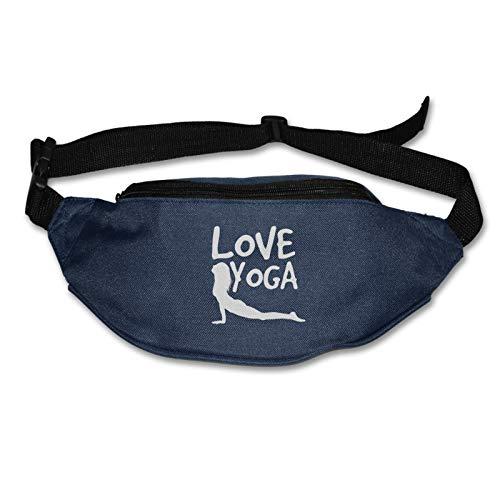 Tvox8x Mujeres Amor Yoga Resistente al Agua Corredores Cinturón Cintura Pack Para Hombres Mujeres Jogging Senderismo Fitness