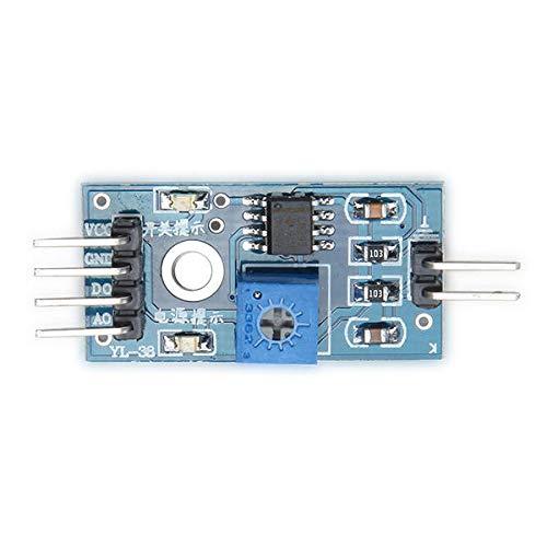 Módulo electrónico Higrómetro del suelo Módulo de detección de humedad Sensor de humedad: productos que trabajan con tableros oficiales 5pcs Equipo electrónico de alta precisión