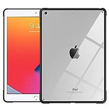 TiMOVO Funda Compatible con Nuevo iPad 9ª Generación 2021/iPad de 8ª Generación 2020 10.2'' con, Carcasa de TPU Flexible con Borde de Almohada de Aire para iPad 7ª Gen 10.2' 2019 - Negro