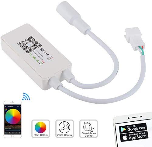 Wifi RGB Tira LED Controlador,controlador de tira de LED RGB WiFi mini WiFi inalámbrico de 5-24 V WS2811, compatible con Android/iOS funciona con Alexa/Google Home/IFTTT
