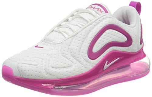 Nike Damen W Air Max 720-Mesh Laufschuh, White/White-fire pink-metallic Silver, 38 EU