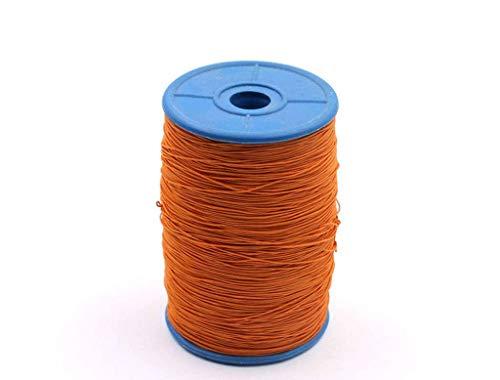 0.5mm, elastische band, dunne fijne ronde elastische stretch koord elastisch touw voor naaien ambachten diy, kunst sprei 12 kleuren-Oranje-0.5mm-500Meter
