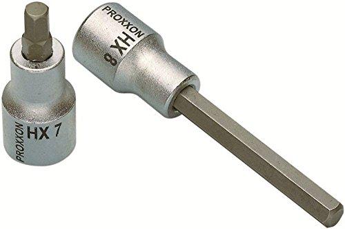 PROXXON 23485 Innensechskant Einsatz HX7 7mm Länge 100mm Antrieb 12,5mm (1/2
