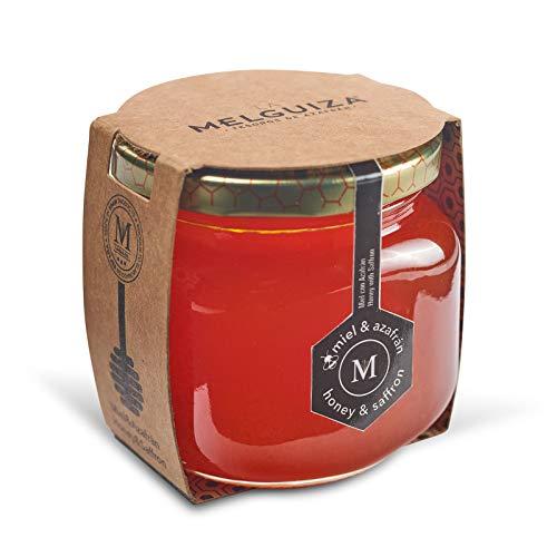 Miel Pura de Flor de Naranjo o Azahar Producida en España con Azafrán de la Mancha (250 Gr)