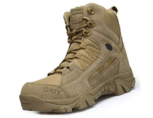 IYVW OKIY 1705 Herren leichte und stabile Schuhe, strapazierfähige Wanderschuhe für Männer Wüstengelb 40EU