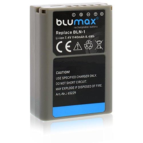 Blumax Premium Akku für Olympus BLN-1 PS-BLN-1 1140mAh Kompatibel mit Olympus OM-D E-M5 E-M1 und OM-D E-M5 Mark II 1140mAh 7,4V 8,4Wh