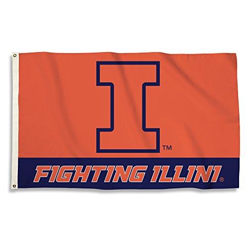 BSI NCAA College Illinois Illini 3 X 5 Foot Flag with Grommets