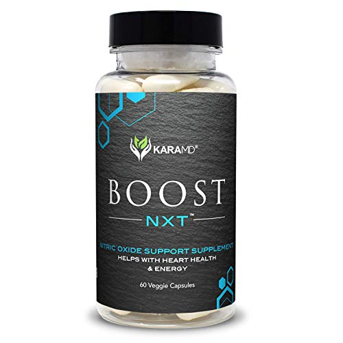 KaraMD Boost NXT | Doctor Formulated Nitric Oxide Booster Supplement – Circulation and Blood Flow Enhancement for Improved Energy, Muscle Building and Heart Health, 30 Servings