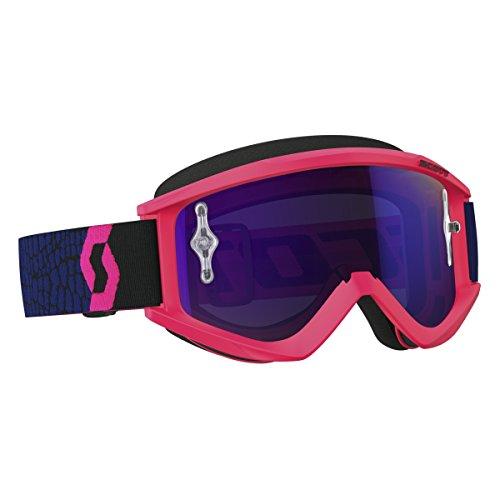 Scott Recoil Xi MX Goggle Cross/MTB Brille pink/blau/lila chrom works