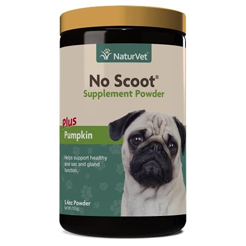 NaturVet – Sin scoot para perros – Plus calabaza   Apoya la función saludable de glándula y intestino   Mejorado con pulpa de remolacha  linaza y cáscara de psyllium   155 g en polvo