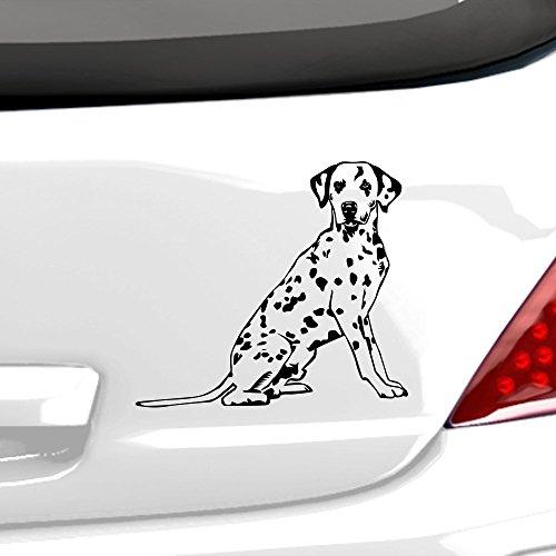 malango® Dalmatiner Autoaufkleber Autosticker Aufkleber Sticker Hund Hunde Tiere bester Freund ca. 20 x 18 cm weiß weiß ca. 20 x 18 cm