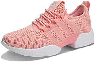 ZJSWIN New Women's Shoes Wild Students Lace Shoes Women's Casual Shoes Flat Shoes Sports Shoes Women (Color : Pink, Size : 37EU)