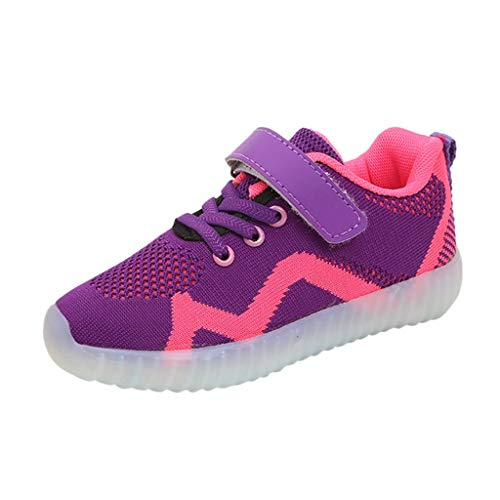 Learn More About Kids Led Light Up Shoes USB Charging Boys Girls Lightweight Breathable Flashing Fas...