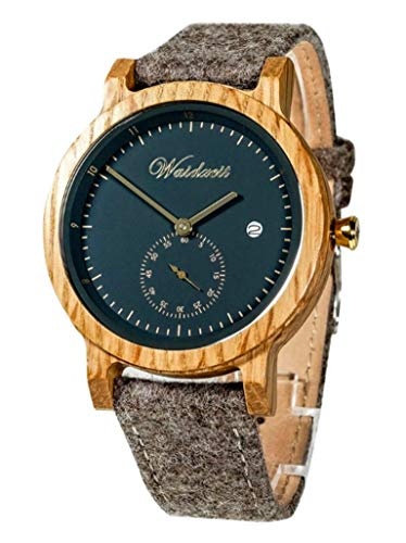 Waidzeit AWB02 Barrique Alpin Uhr Herrenuhr Lederarmband Holz Analog braun