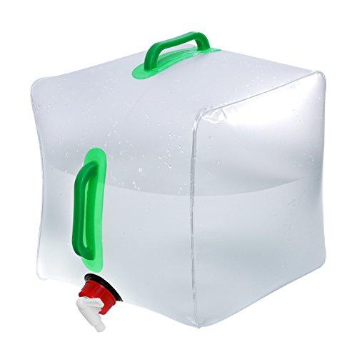 WINOMO Réservoir d'eau Pliable Sac Conteneur Portable Transparent Durable Grande Capacité pour Camping Pique-Nique 20L