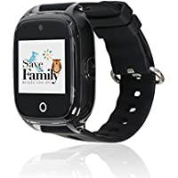 Reloj con GPS para niños SaveFamily modelo Superior acuático con cámara color Negro Mate. Smartwatch con botón SOS, permite llamadas y mensajes. Resistente al agua Ip67 (Negro)