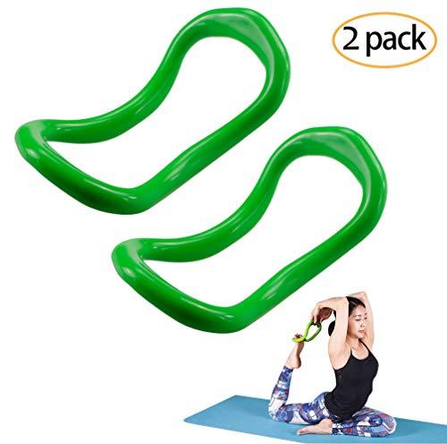 YNXing Yoga Equipment Yoga Ring Pilates Ring Fitness Circle Training Resistance Support Tool Calf Massage Home Training (Green)